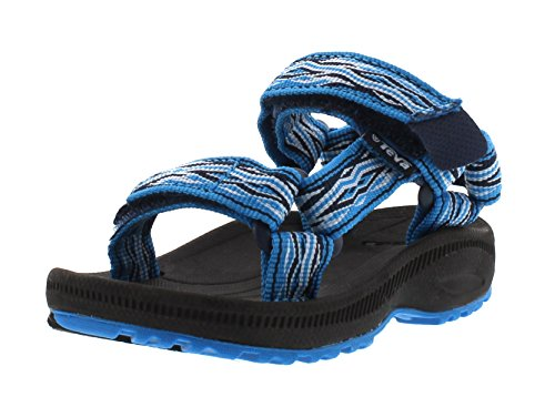 Teva Hurricane 2 T's Unisex-Kinder Sport & Outdoor Sandalen, Blau (Mad Waves Blue 889), Gr.22-23 EU