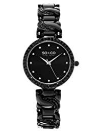 SO & CO New York  Women's 5062.4 SoHo Analog Display Quartz Black Watch