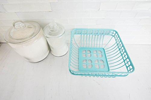 Home Basics Trinity Fruit Basket Square, Turquoise by Home Basics (Image #4)
