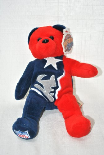 - NEW ENGLAND PATRIOTS OFFICIAL NFL LARGE LOGO 8IN SPECIAL FABRIC FOOTBALL PLUSH TEDDY BEAR