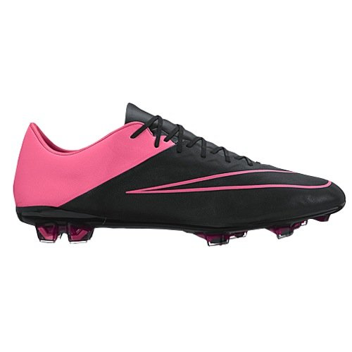 Nike Mercurial Vapor X Leather FG Men's Firm-Ground Soccer Cleat (7.5) Black/Hyper Pink (2015 Nike Football Mens Cleats)