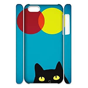 Custom New Case for Iphone 5C 3D, Cat, Sun and Moon Phone Case - HL-506708