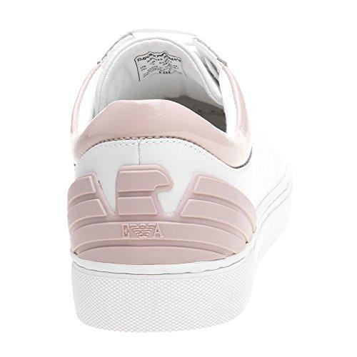 Emporio Armani Heel Logo Court Womens Sneakers White White dK59au