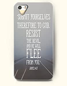 Case For Ipod Touch 4 Cover Case OOFIT Phone Hard Case **NEW** Case with Design Submit Yourselves Therefore To God ,Resist The Devil And He Will Flee From You James 4:7- Bible VersCase For Ipod Touch 4 Cover