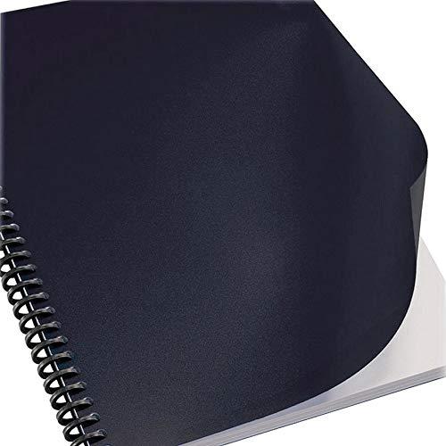 (Sircle Binding Covers, Leatherette, Black, PK100-1330549A)