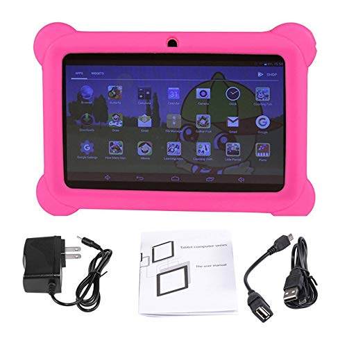 E.I.H. Tablet PC 7 inch Children Tablet Q88 512MB+4GB A33 Quad Core 0.3MP Dual Camera 1024600 WiFi Android 4.4 Tablet PC with Silicone Cover by E.I.H. (Image #7)