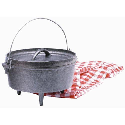 Texsport Cast Iron Dutch Oven – 4 Quart, Outdoor Stuffs