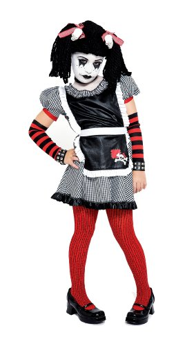 Gothic Ragdoll Costume, Medium (7/8) (Scary Rag Doll Costumes)