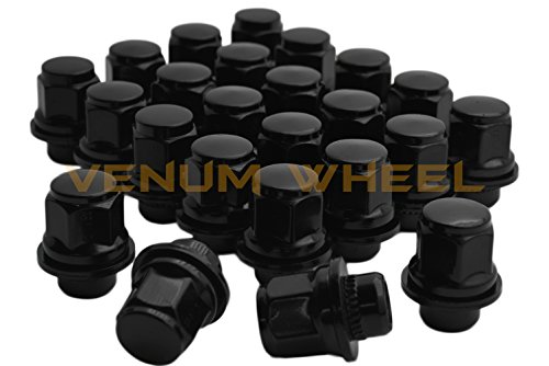 24 Pc Black Toyota Tacoma Tundra Fj Cruiser Oem Mag Seat Lug Nuts 12x1.5 1.45