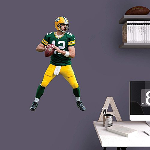Fathead NFL Green Bay Packers Aaron Rodgers Junior Wall Decal