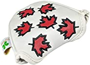 Foretra – Canada Maple Leaf - Golf Putter Headcover Quality PU Leather Magnetic Closure for Mallet Style Putte