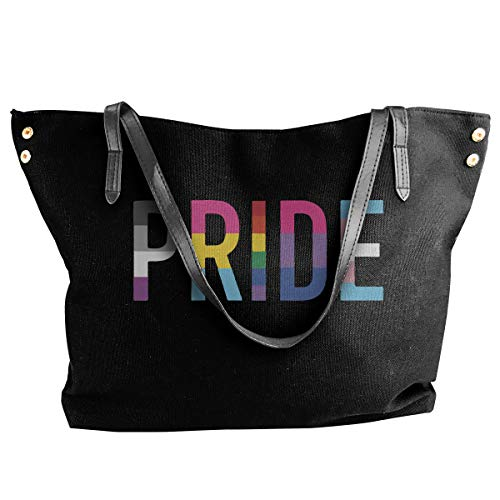 (Women's Canvas Large Pride LGBT Entry Way Tote Handbag, Perfect Hobo Bag)