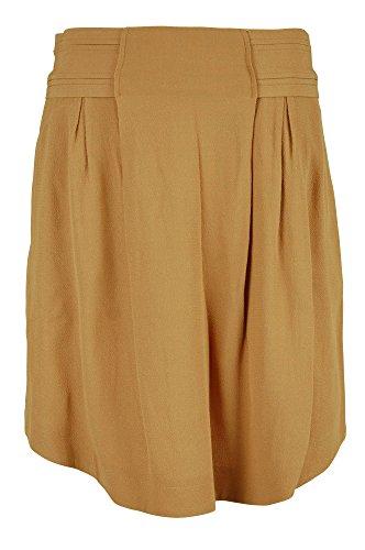 See by Chloe Womens Medium Burnt Orange High Waist Pleat Skirt 42/6