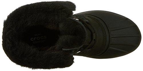 Women's Luxe Shimmer II Boot Black Snow AllCast Crocs Agqvxwdw