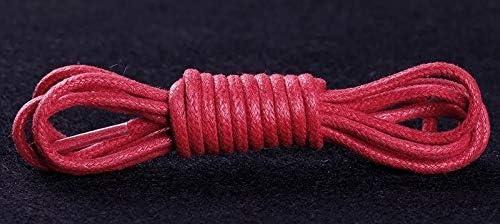 YJZG 1Pairワックスコットンラウンド靴ひもレザーシューズは、靴ひも防水男性マーティンブーツ靴ひもシューストリングをひもで締めます (Color : Red, Length : 120CM)