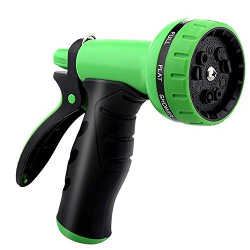 Gdealer garden hose nozzle 9 pattern hand spray nozzle heavy import it all for High pressure garden hose nozzle