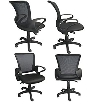 2xhome Executive Manager Conference Mesh Computer Office Desk Mid Back Task Swivel Adjustable Chair With Arms Back Wheels Guest Boss Manager Work Desk Task