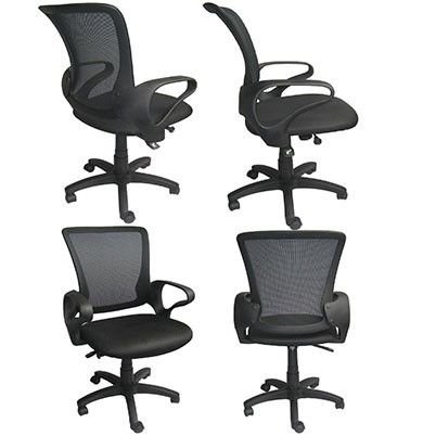 (2xhome Executive Manager Conference Mesh Computer Office Desk Mid Back Task Swivel Adjustable Chair With Arms Back Wheels Guest Boss Manager Work Desk Task)