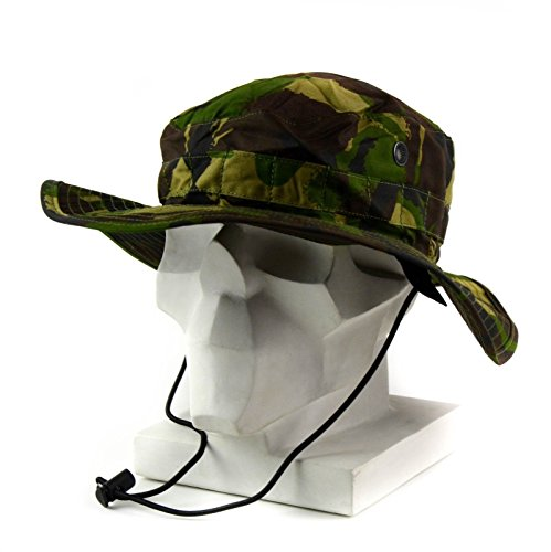 58e01803 Original British Army boonie cap Sun Bush Hat woodland camo combat DPM  jungle (Small)