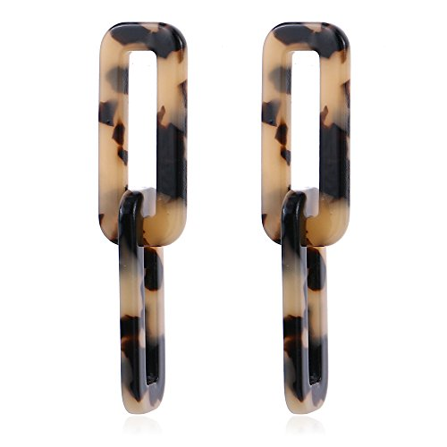 in Stud Earrings Drop Dangle Geometry Tortoise Shell Statement Earrings For Women #3502 ()