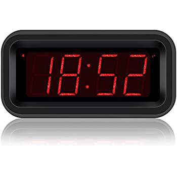 Kwanwa Travel Digital Alarm Clock Small Battery Operated LED Number Display 1.2 Kids Teens Adults (Sparkling Version)