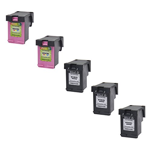AMTONER High Yield Remanufactured Ink Cartridge Replacement for 65 65XL N9K04AN N9K03AN Use in Deskjet 2655 3720 3721 3722 3723 3730 3732 3752 3755 3758 Printers (3 Black & 2 Tri-Color) -  altom international Inc., ATUS-65BXL-3+65CXL-2