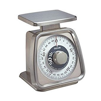 Taylor TS50 Heavy-Duty Mechanical SS Food Scale, 50 lb x 4 oz. Rotating Dial by Taylor