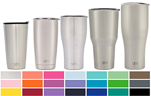 Simple Modern Pint 16Oz Tumbler   Vacuum Insulated Stackable Kitchen Glass Cupholder Friendly   475 Ml Double Wall Silver 18 8 Stainless Steel   Simple Stainless