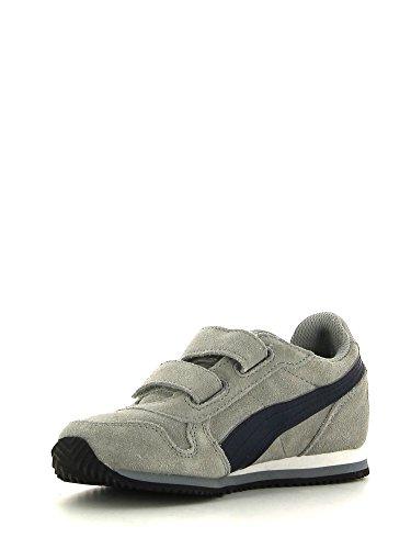 Puma St Camino Suede V Zapatillas de running, Niños Multicolor Size: 23 Grigio/Navy
