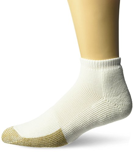 Thorlos Unisex TMM Tennis Thick Padded Low Cut Sock, White, (Thick Cushion Tennis Socks)