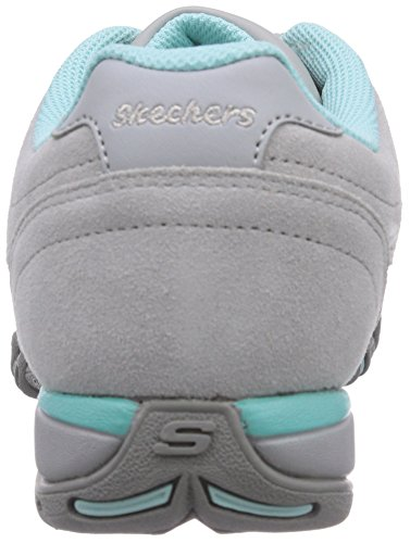 Skechers Material Grau Mujer Sintético Zapatilla Deportiva De gyaq Speedsters Gris T87wrIqT