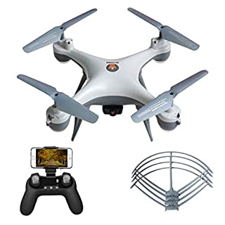 RC Quadcopter FPV Gravity Sensor Drone with 480P HD Camera Live Video WiFi RTF, Lights Control/Altitude Hold/Headless Mode/One Key Take Off&Landing/Emergency Stop, Great for Kids Adults and Beginners