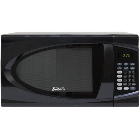 Sunbeam 0.9 cu ft Microwave, Speed and Weight Defrost, Black