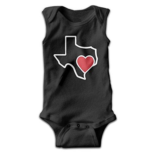 MMSSsJQ6 Hearts for Houston Infant Baby Boys Girls Infant Creeper Sleeveless Onesie Romper Jumpsuit Black -