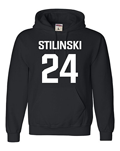 Go All Out Medium Black Adult Stilinski Lacrosse #24 Sweatshirt Hoodie