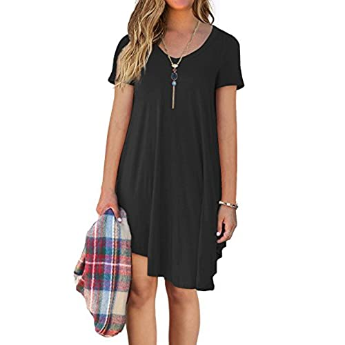 Black flowy dress with sleeves