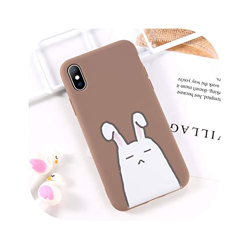 (Phone Case for iPhone 6 6s 7 8 Plus X XR XS Max Fashion Cute Cartoon Bear Rabbit Soft TPU for iPhone X Phone Case Cover,T3,for iPhone X)