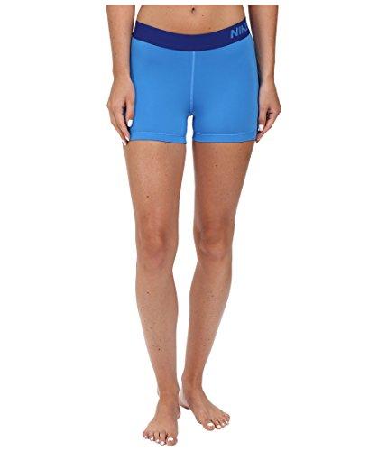 Nike Women's Pro Cool 3-Inch Training Shorts (Light Photo Blue/Deep Royal Blue/Small) ()