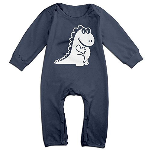 Orz Infants Cute Cute Dragon Long Sleeve Bodysuit Baby Onesie Baby Climbing Clothes Outfits For 0-24 Months Navy 18 Months