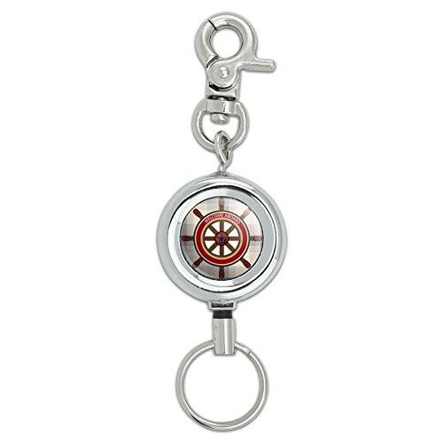 Steering Wheel Holder Key (Ship's Helm Steering Wheel Lanyard Belt ID Badge Key Retractable Reel Holder)