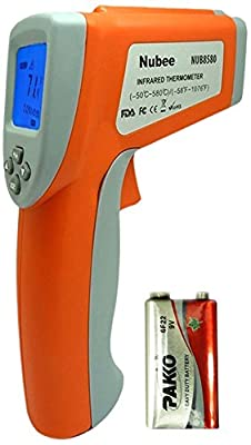 Nubee Dual Laser Optical Focus Temperature Gun Non Contact Infrared IR Thermometer