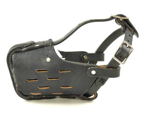 Large Leather Dog Muzzle for Medium to Large Malinois or Shepherd - RedLine K9
