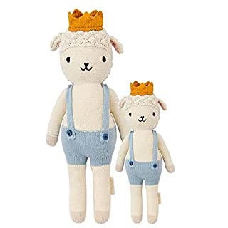 "CUDDLE + KIND Sebastian The Lamb Little 13"" Hand-Knit Doll - 1 Doll = 10 Meals, Fair Trade, Heirloom Quality, Handcrafted in Peru, 100% Cotton Yarn"