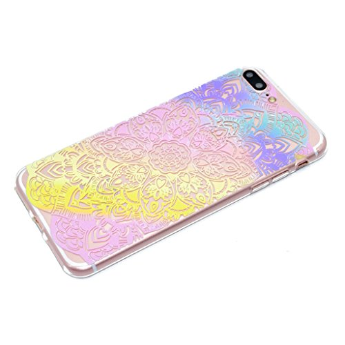 "iPhone 7 Plus Hülle , Leiai Mode Regenbogen TPU Transparent Weich Tasche Schutzhülle Silikon Handyhülle Stoßdämpfende Schale Fall Case Shell für Apple iPhone 7 Plus 5.5"""