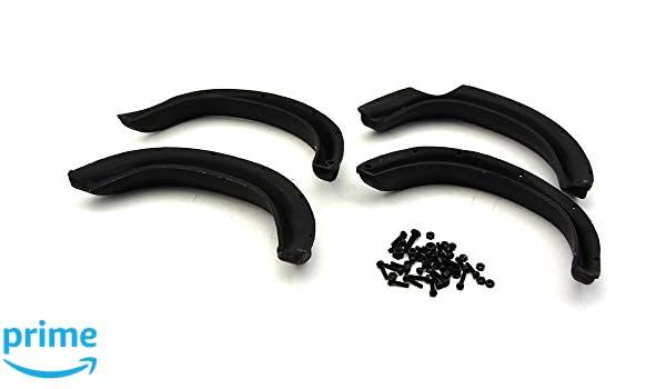 Tamiya R//C Toy 1//10 Toyota Tundra Add On-Set Black Rubber Fender Flare Flares