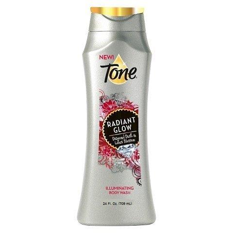 (Tone Radiant Glow Body Wash, with Diamond Dust & Lotus Blossom, 24 Fl. Oz.)