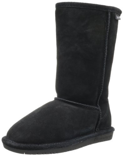 BEARPAW  Emma Tall Youth Boot,Black,4 M US Big Kid
