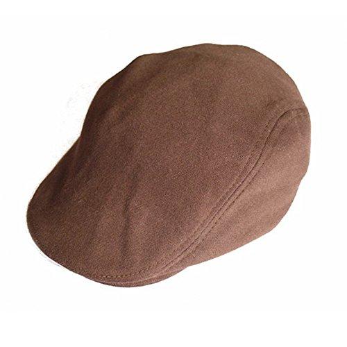 Wansan Men's Newsboy Gatsby Cabbie Hats Cotton Adjustable Driving Winter Hat Coffee