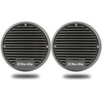 Herdio 3 Waterproof Marine Speakers Marine Boat compact speaker for BOAT SPA ATV UTV RZR -Gray