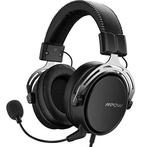 Mpow Air SE PS4 Headset with 3D Sound, Detachable Noise-Cancellation Mic, Inspired Soft Memory Earpads, Multi-Platform Headset for PC/Xbox One/Switch